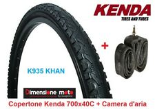 "Copertone KENDA 700x40C K935-KHAN Nero + Camera d'aria per Bici 28"" City Bike"