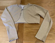 Girls Monsoon Gold Shrug/ Cropped Cardigan - Age 11-12 Years - Sparkly Party