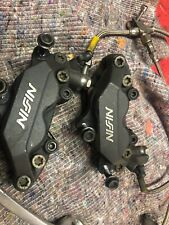 Honda CBR600F FX FY Complete Front Brake Calipers With Braided Hoses And M/C