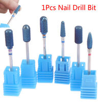 Blue Tungsten Steel Carbide Rotary Burr Nail Drill Bit Manicure Bits Drill To_AU