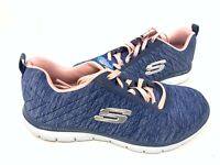 NEW! Skechers Women's  FLEX APPEAL 2.0 Walking Shoes Navy #12753 146N tz