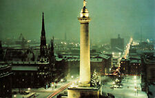 Postcard Washington Monument Christmas In Mt Vernon Place Baltimore Maryland