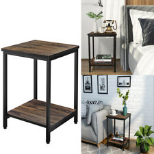 Square Shape Side Table Snack Coffee Tray End Table Living Room Under Sofa Table