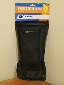 CranBarry Field Hockey Youth Deluxe Shinguards - One Size - Black