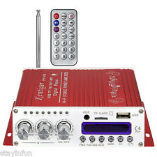 Kentiger V10 Bluetooth Hi-Fi Class-D Stereo Super Bass Audio Power Amplifier RED