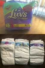 Vintage Plastic Diapers Luvs(Barney), Huggies and Pampers+newer Xl/6/7