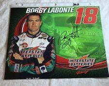 Bobby Labonte Signed 18 Interstate Batteries NASCAR Photo Card 8.5 X 11 N362