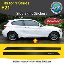 Für BMW F21 1er M Performance Seite Schweller Türleiste Aufkleber Grafik MATT