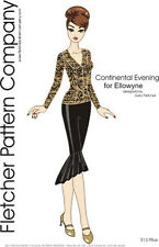 Continental Evening Doll Clothes Sewing Pattern Ellowyne Wilde  Tonner