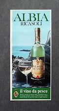 K487- Advertising Pubblicità -1975- ALBIA RICASOLI , IL VINO DA PESCE