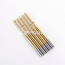 5x 1/8'' Titanium N2 Coated Carbide One Single Flute CNC Router Bit 2mm x17mm us
