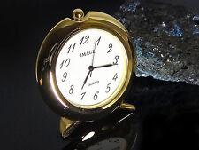 Tischuhr Miniaturuhr Miniuhr Miniatur Uhr Bürouhr goldfarben silberfarben
