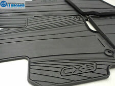 New OEM Mazda CX-5 2013-2016 Black All Weather Rubber Floor Mats 0000-8B-R12