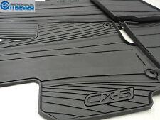 New OEM Mazda CX-5 2013-2016 Black All Weather Rubber Floor Mats 0000-8B-R12