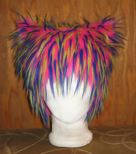 CHESHIRE KITTY PUSSY CAT FUR HAT ANIME COSPLAY ALICE WONDERLAND COSTUME WIG SNOW