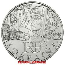 "FRANCE 2012 10 EURO AG REGION ""LORRAINE"" TIRAGE: 140.000 EXEMPLAIRES"