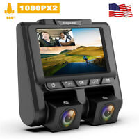 TOGUARD Uber Dual Dash Cam FHD 1080P+1080P Car Camera 340° Dashboard DVR Camera