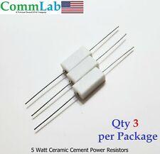 330 Ohm 5 Watt 5w Ceramic Cement Power Resistor 3 Pieces