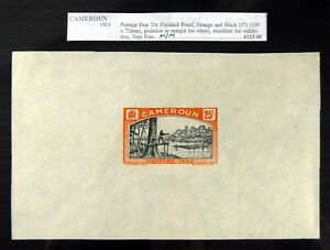 CAMEROON 1925 Postage Due Finished Proof As Described DF484