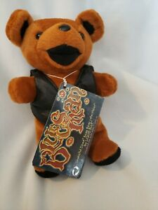 The Grateful Dead Beanie Bear  'Blues Man'  LIQUID BLUE BLACKVEST MINT BEAR