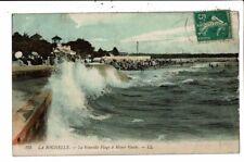 CPA-Carte Postale-FRANCE -La Rochelle - Nouvelle Plage à marée haute  en 1913