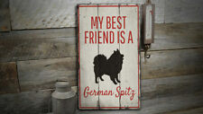 German Spitz Vintage Distressed Sign, Personalized Wood Sign