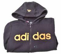 ADIDAS Boys Hoodie Sweater 11-12 Years Black ad Cotton  CD01
