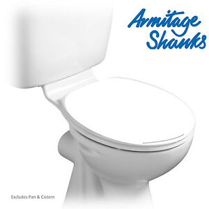 ARMITAGE SHANKS REPLACEMENT S404501 ORION 3 NEW STYLE WHITE TOILET SEAT & COVER
