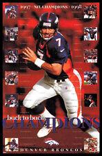 John Elway DENVER BRONCOS SUPER BOWL CHAMPS XXXII, XXXIII Original 1999 Poster