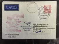1957 Leipzig East Germany DDR First Day Airmail Letter Cover To Dresden