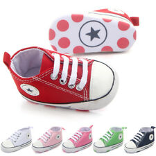 Baby Kids Boys Girls Casual Canvas Sneaker Soft Sole Crib Shoes Prewalker 0-12M