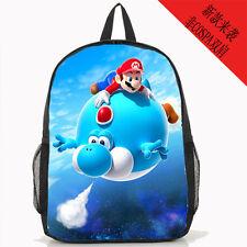 "Super mario brothers lying15"" shoulder bag unisex Backpack back to school new"