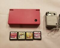 Nintendo DSi Boutique Pink Bundle with Charger and 1 Game TESTED and Working