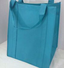 Reusable GROCERY BAG - SOLID TEAL - Large Size Recyclable Shopping Tote