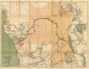 Congo Free State & river valley. Central Africa. HENRY MORTON STANLEY 1885 map