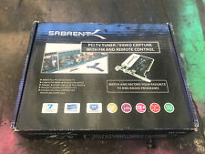 Sabrent TV Tuner/Video Capture/DVR Maker PCI Card with Remote Control Open Box