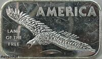 1 oz. .999 Fine America Land of the Free Silver Bar American Argent Mint CH5168