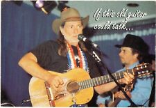 """Willie Nelson & Merle Haggard-1993  Postcard-""""If this old guitar could talk ..."""""""