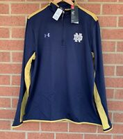 Under Armour Notre Dame Fighting Irish Navy ColdGear Pullover - Size XL - NWT