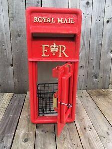 Royal Mail Post Box ER British Post Box Machan Scotland & Cage Chubb Lock 2 Keys