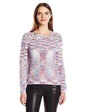 Kensie Space Dye Button Detail Sweater Size L Color Multi C11