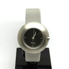 Ladies All Titanium BOCCIA Modern Mesh Band Charcoal Dial Japan Quartz Watch
