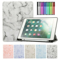 Luxury TPU Shockproof Leather Smart Case Cover With Apple Pencil Holder for iPad