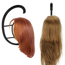 Black Durable Wig Hanger Portable Hanging Wig Stand for All Wigs and Hats HL