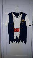 MANS BOYS TU PIRATE FANCY DRESS COSTUME 2 PIECE SET  SIZE S/M