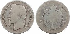Second Empire, 2 francs tête laurée, 1866, Bordeaux - 56