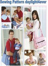 Baby Diaper Bag Bib Burp Cloth Changing Pad Pillow Sewing Pattern 2924 New #v