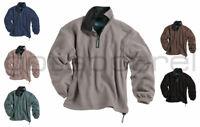 Tri-Mountain New Men's Polyester Micro Fleece 1/4 Zip Winter Pullover. 7100