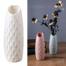 Flower Vase Home Decoration Pots Imitation Ceramic Durable Nordic Style Modern