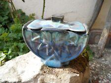 Ancien pot en grès flammé forme originale , Belgique , à identifier